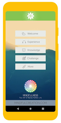 Screenshot of Mindfulness: Being Human meditation app