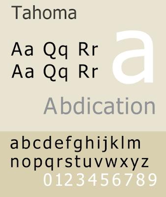 Tahoma CV font