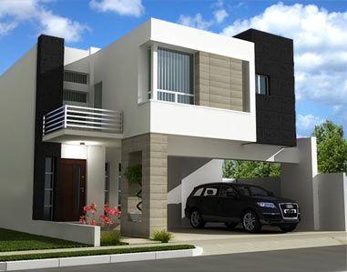 Construindo minha casa clean fachadas de casas quadradas for Fachadas minimalistas 2016