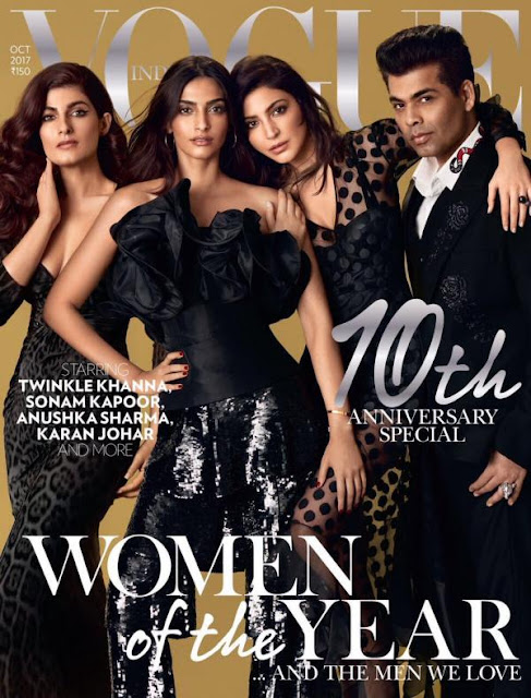 Twinkle, Sonam, Anushka and Karan Johar On Vogue Cover October 2017