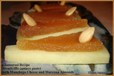 Glamorosi Recipe Membrillo (quince paste) with Manchego cheese and Marcona almond