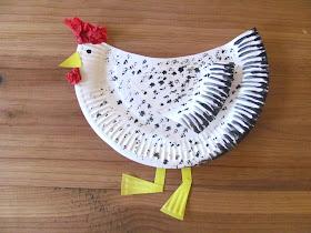 paper plate hen
