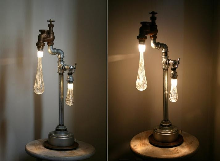 Industrial Bedside Table 35 Creative And Unusual Lamp/light Designs – Part 5.
