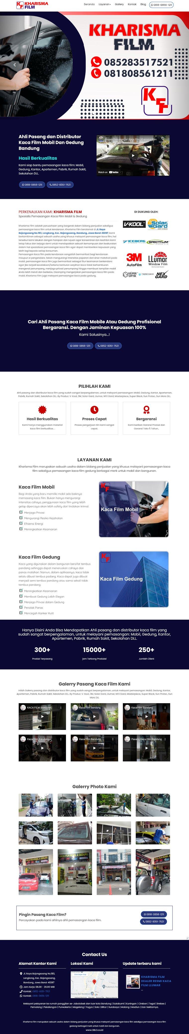 Ahli Pasang dan Distributor Kaca Film Mobil Dan Gedung Bandung