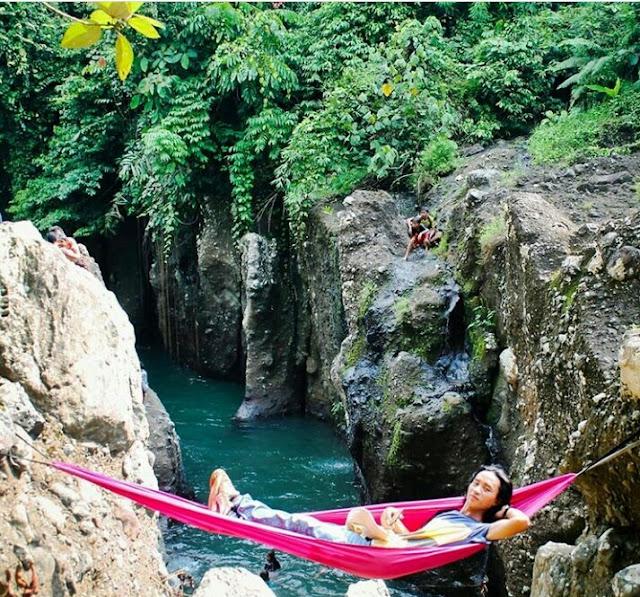 curug mingga waterfall bengkulu indonesia