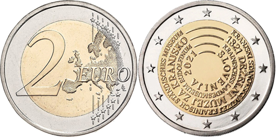 Slovenia 2 euro 2021 - 200 years of the foundation of the Estate Museum of Carniola