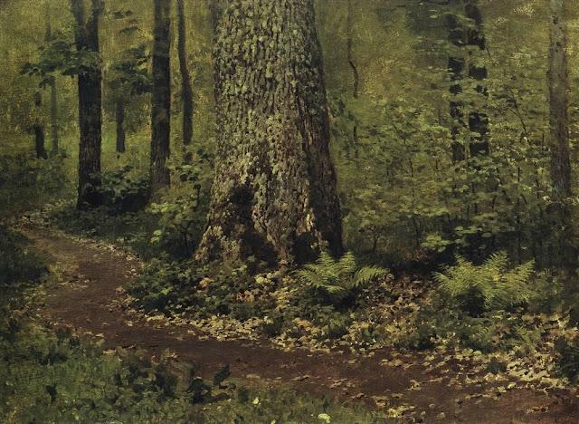 Исаак Ильич Левитан - Тропинка в лиственном лесу. Папоротники. Около 1895