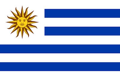 Logo Gambar Bendera Negara Uruguay PNG JPG ukuran 400 px