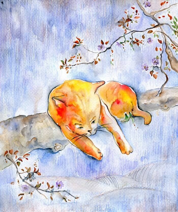 11-Inspired-By-Japanese-Art-Veselka-Velinova-Paintings-of-12-Cats-in-Different-Art-Styles-www-designstack-co