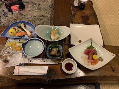 船原館の夕食