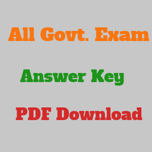 `All Government Exam Answer Key Download PDF