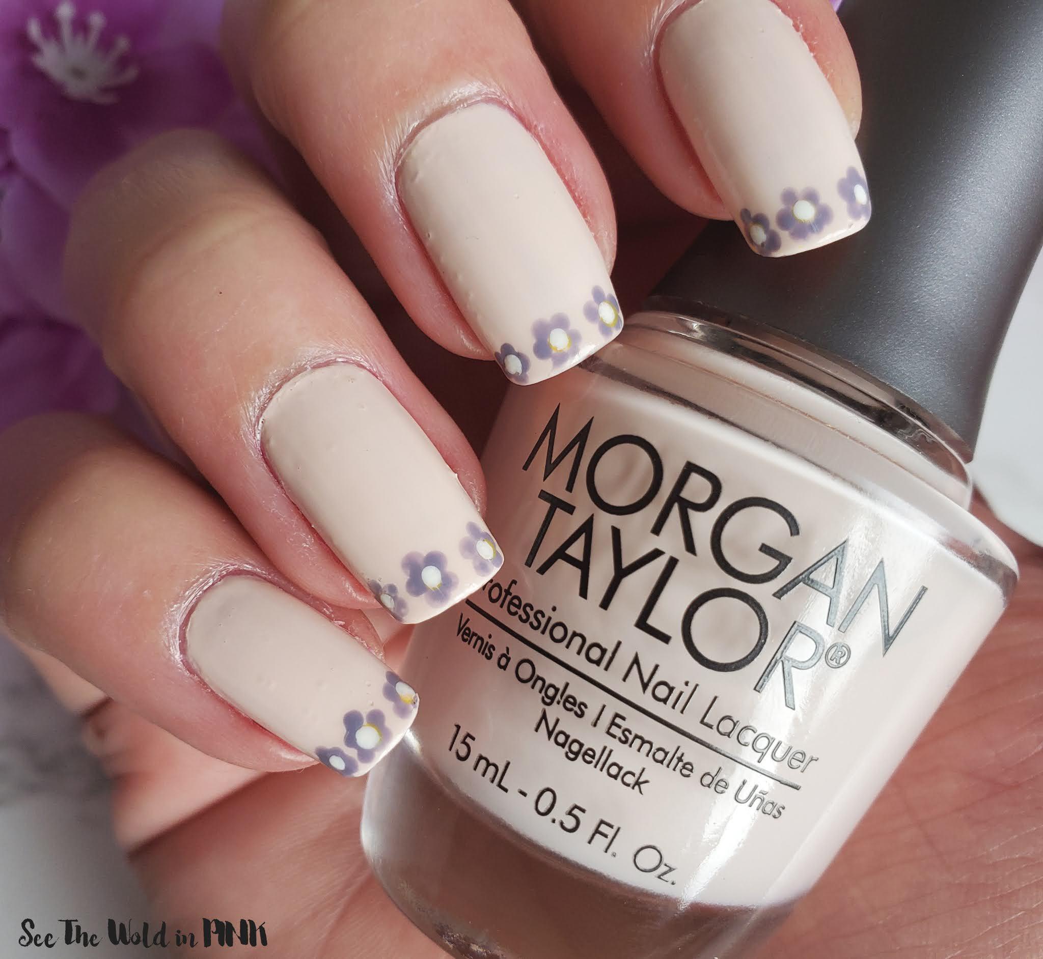 Manicure Monday - Flower French Mani Tips