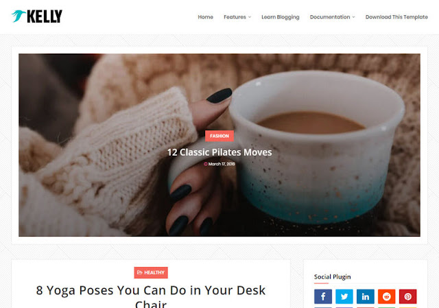 Kelly Blogger Template