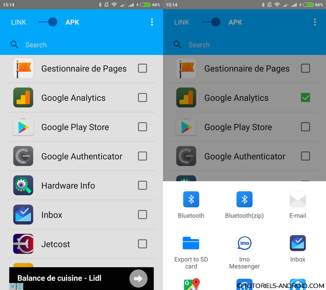 MyAppSharer pour Android