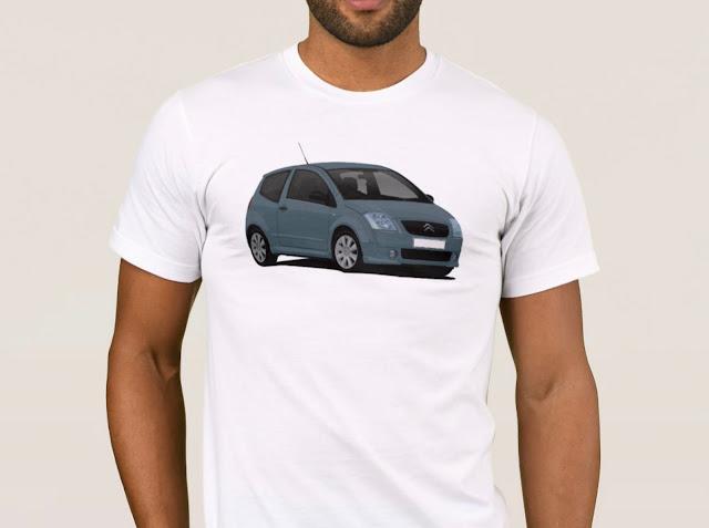 Gray-blue Citroën C2 T-shirt