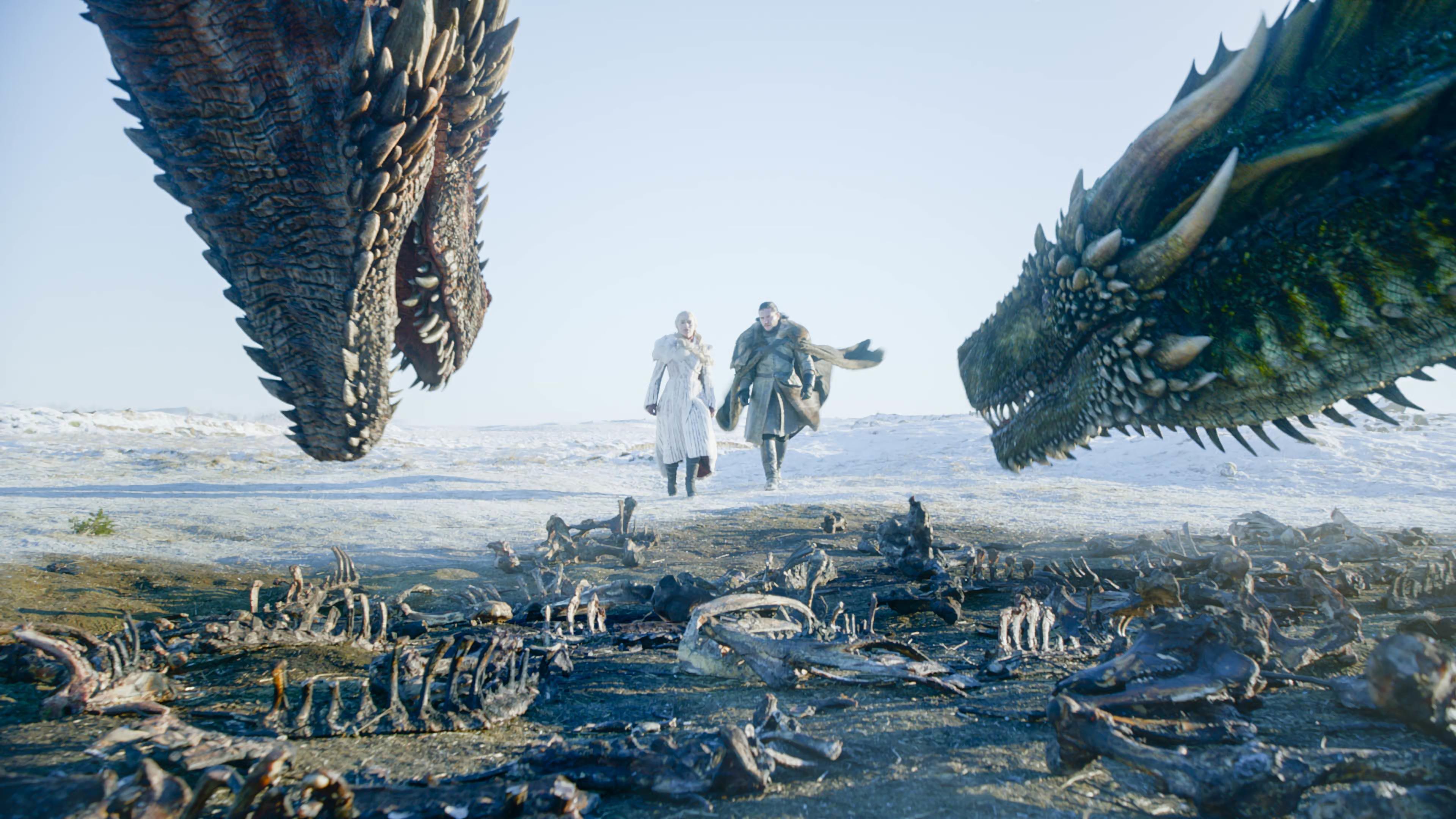 Daenerys Targaryen And Jon Snow Game Of Thrones Dragon Season 8