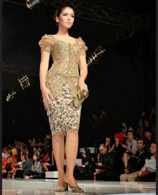 kebaya sabrina untuk fashion show