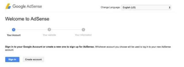 Adsense Arbitrage: Sign up for Adsense