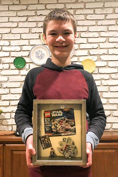 Boy, 12, breaks Guinness record with 'Star Wars' Lego set