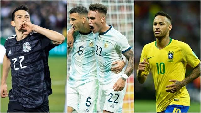 LA CARTELERA DE LA FECHA FIFA DEL MES DE OCTUBRE