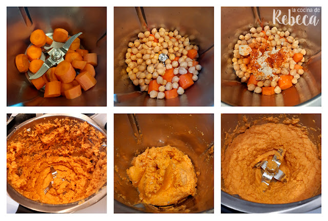 Receta de hummus de zanahoria: preparación del hummus
