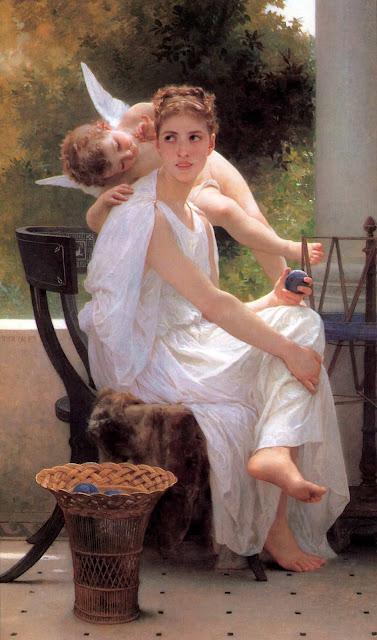 Адольф Вильям Бугро - Прерванная работа (1891)