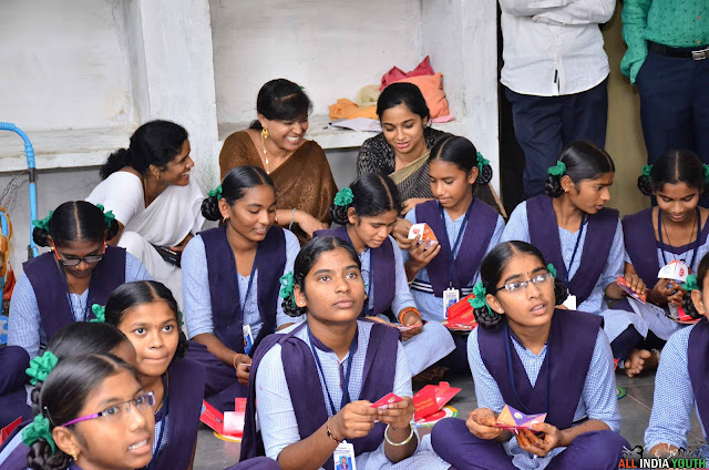 Swetha Mohanty with school children in samata event