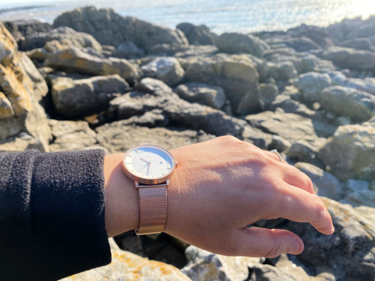 Nordgreen Infinity watch by the sea