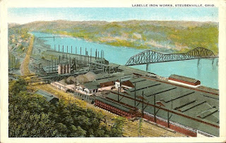 postcard of La Belle Iron Works