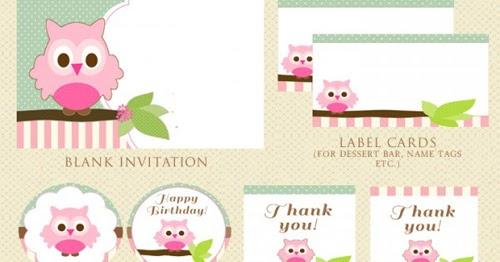 My Owl Barn Free Owl Party Printables