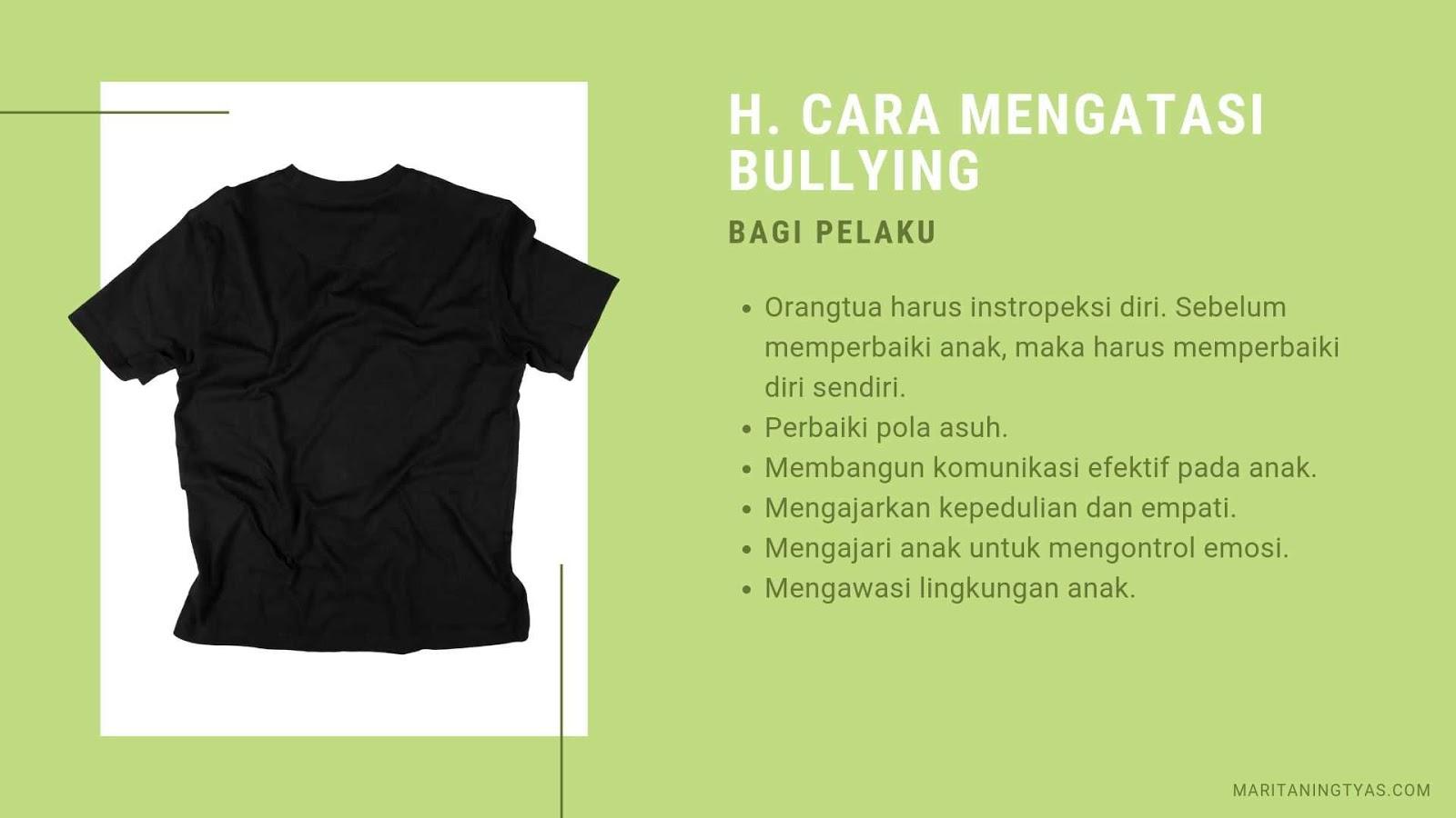 cara mengatasi bullying bagi pelaku