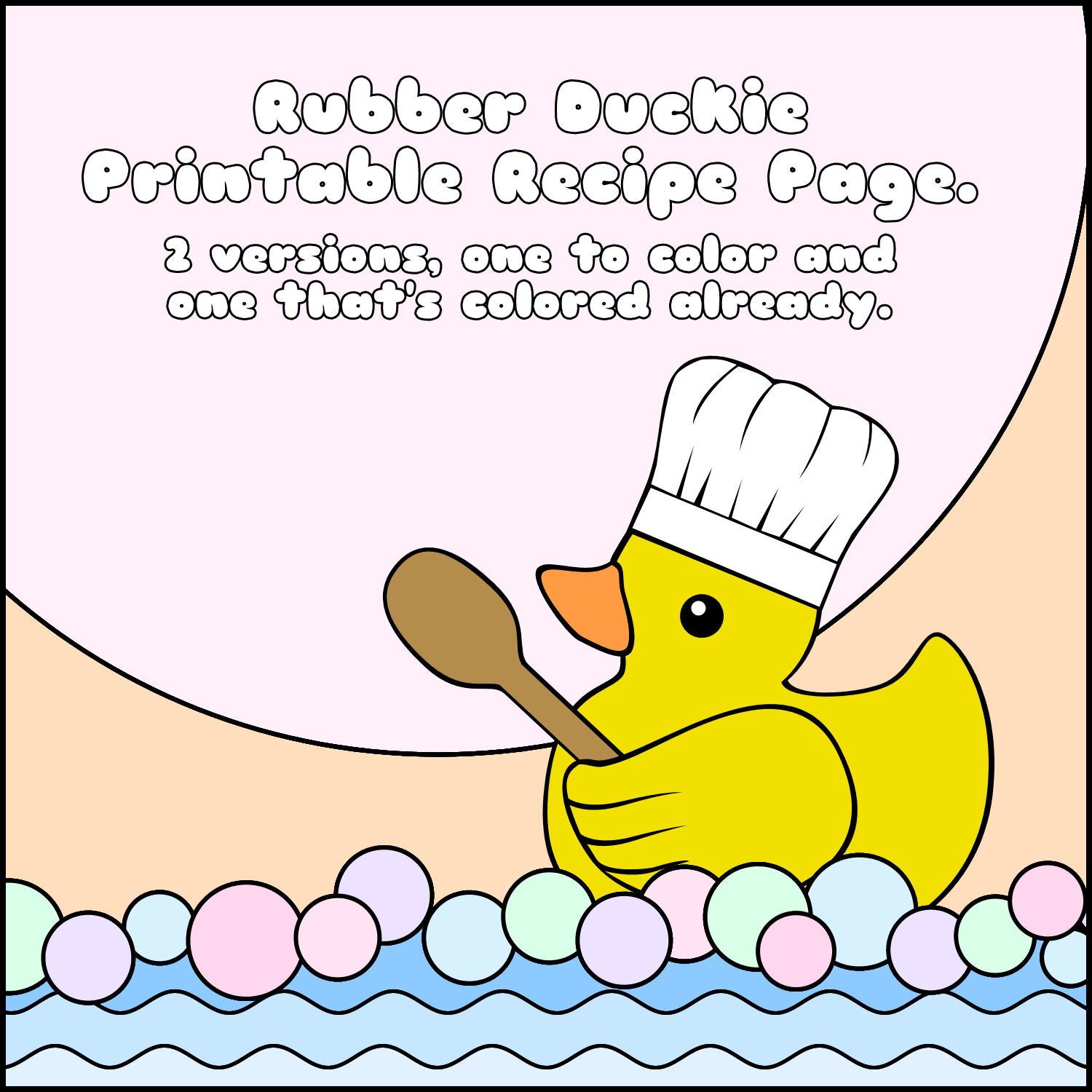 Rubber duck recipe page thumbnail