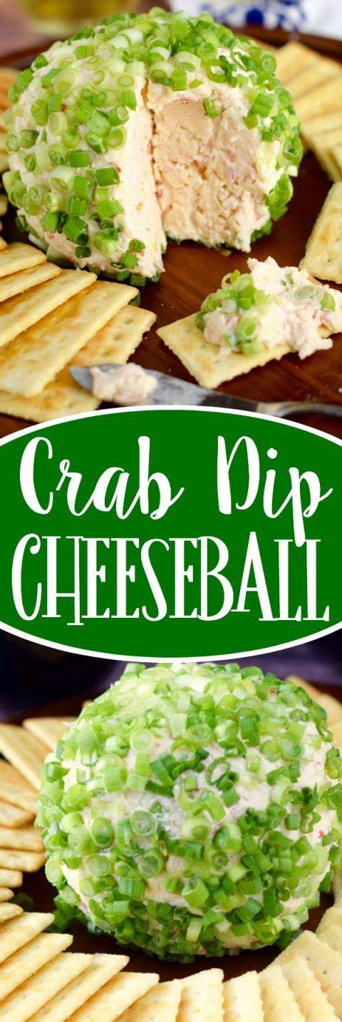 Crab Dip Cheeseball