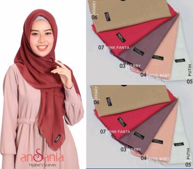 Jilbab Saudia Rawis Warna Pink Fanta