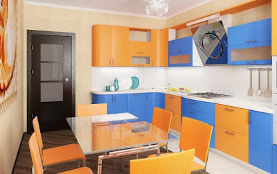 orange modular kitchen ideas and cabinet designs for modern homes