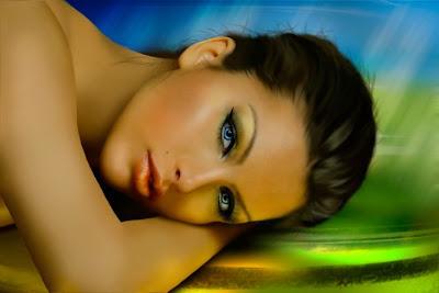 Retrato de mujer bonita