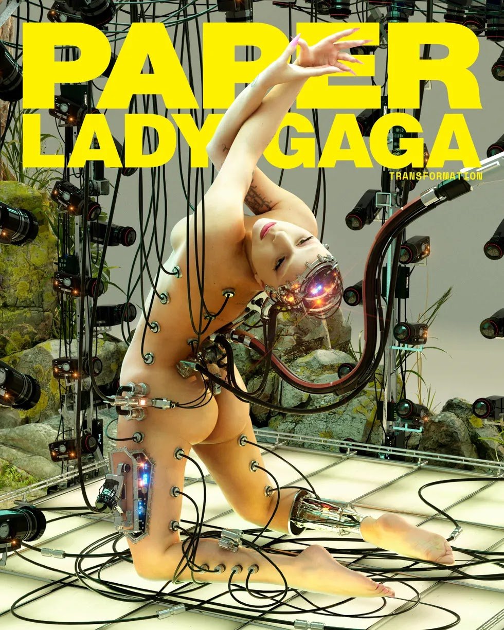 Lady Gaga is nude in robot themed Paper Magazine shoot