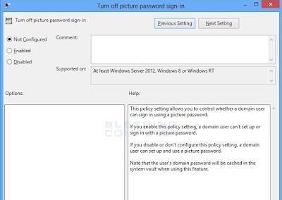 Cara Menonaktifkan Password Picture di Windows 8