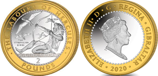 Gibraltar 2 pounds 2020 - The Stymphalian Birds