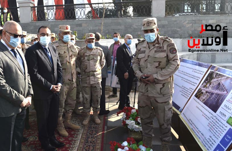 رئيس مجلس الوزراء تفقد أعمال تنفيذ مشروع ممشى أهل مصر  يرافقه وزير الإسكان