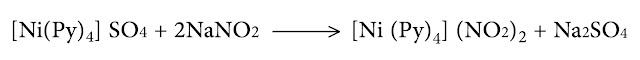 شاردة النتريت إلى معقد كبريتات الرباعي بيريدين نيكل
