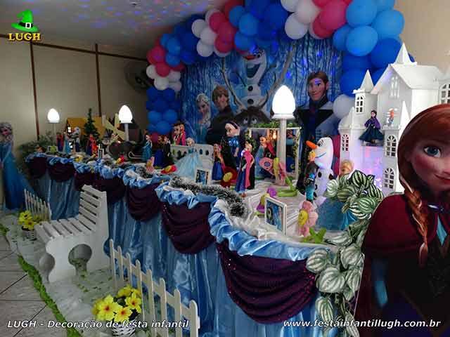 Decoração mesa infantil Frozen - Festa de aniversário