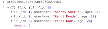 javascript sort array of object