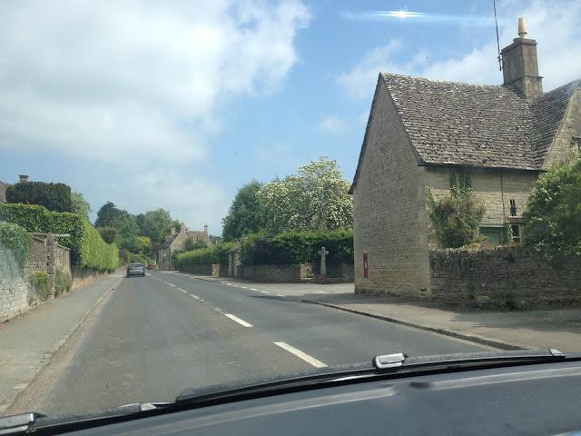 carreteras por los Cotswolds Inglaterra