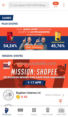 Quick count pilpres ala shopee