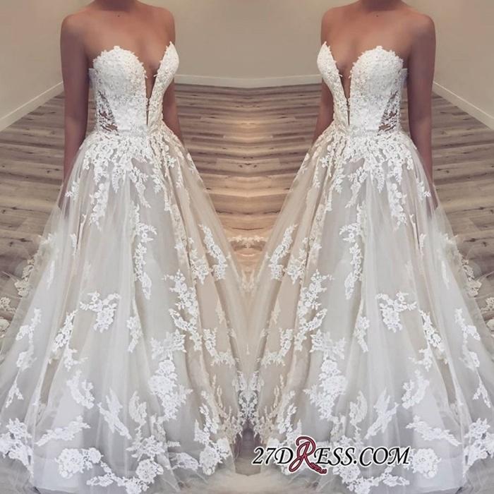 https://www.27dress.com/p/elegant-sweetheart-lace-appliques-long-wedding-dress-109196.html