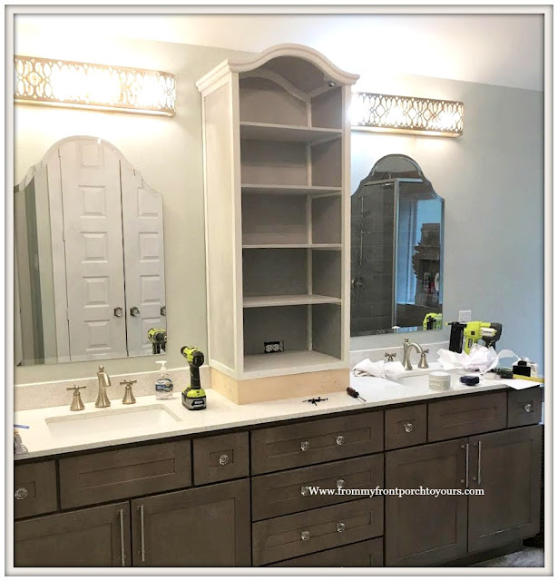 Master Bathroom Makeover-French Farmhouse-DIY-Counter-Cabinet-From My Front Porch To Yours
