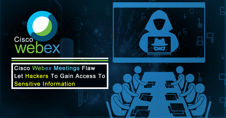 Cisco Webex Meetings Flaw Let Hackers to Gain Access to Sensitive Information on Vulnerable System