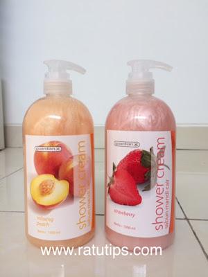 Review Guardian Shower Cream Strawberry dan Relaxing Peach