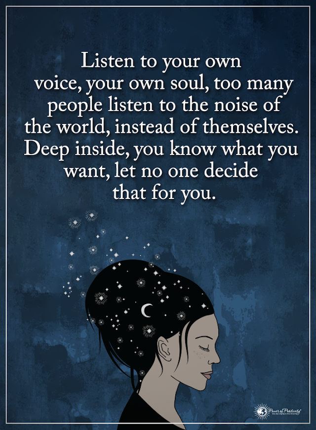 Listen to Your Own Voice - Quotes Top Updated